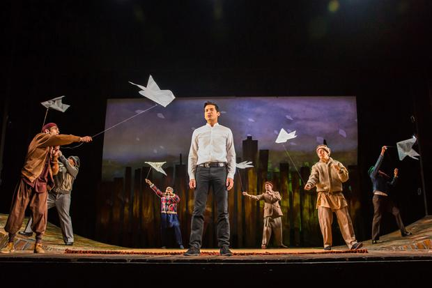 Raj Ghatak and cast in The Kite Runner. Photo: Betty Zapata