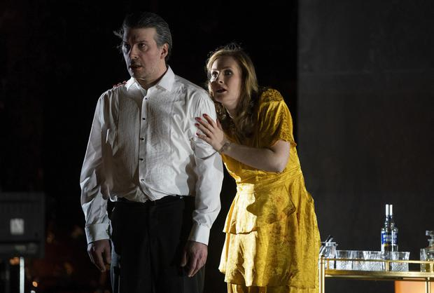 Tantalising: Joshua Bloom as Bluebeard and Paula Murrihy as Judith