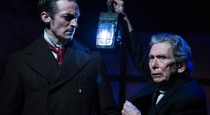 Marcus Lamb and Daniel Reardon in 'The Signalman' at the New Theatre