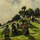 Fields of glory: The Flax Pullers by Lilian Davidson, showing the summer harvest of flax for Ulster's linen industry, sold for €105,207
