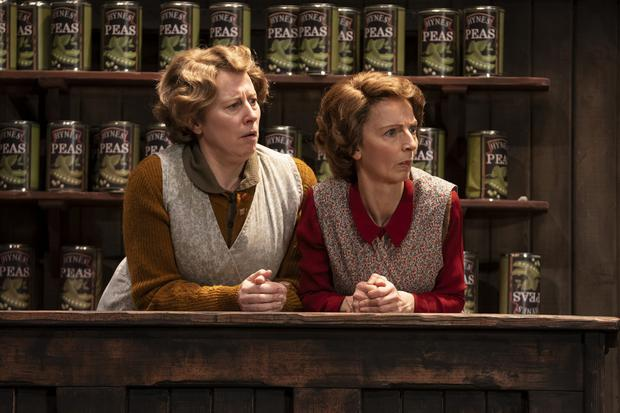 Double act: Catherine Walsh and Norma Sheahan in The Cripple of Inishmaan. Photo: Pat Redmond
