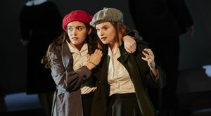 Pals: Grace Collender and Lola Petticrew in Edna O'Brien's The Country Girls. Photo: Ros Kavanagh.