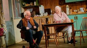 Seán McGinley and Marie Mullen in the Gate Theatre production of The Children by Lucy Kirkwood