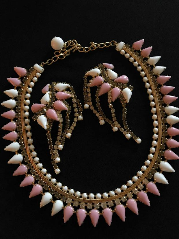 Hobe vintage costume necklace and earrings by Strictly Vintage