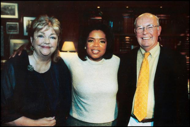 Gordon and Maeve with Oprah Winfrey in Chicago.