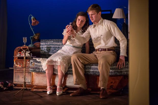 Magical encounter: Zara Devlin and Frank Blake in The Glass Menagerie at the Gate Theatre. Photo by Ste Murray
