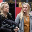 Samantha as Ronny on the set of Eastenders with Roxy (played by Rita Simmons). Photo: Jack Barnes.