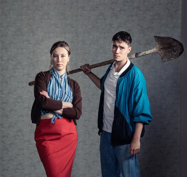Eloise Stevenson and Michael Shea in the Oonagh Murphy-directed The Playboy of the Western World at the Gaiety, a Lyric Theatre & Dublin Theatre Festival co-production