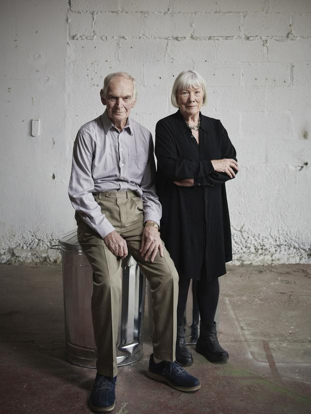 Recycled: Des Keogh and Rosaleen Linehan, now in their Eighties, have reprised their roles in Endgame. Photo by Ros Kavanagh