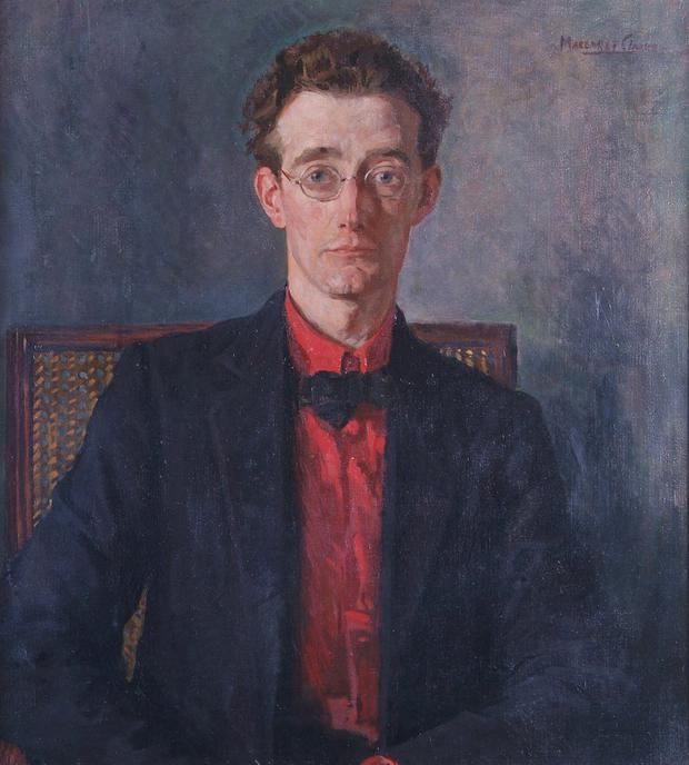 The Crawford Gallery's portrait of author Lennox Robinson, painted by Margaret Clarke