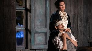 Jack Gleeson and Eileen Walsh in Druid's production of Thomas Kilroy's The Seagull (after Chekhov), directed by Garry Hynes. Photo by Ste Murray