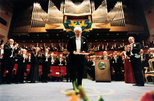 Seamus Heaney paid tribute to WB Yeats when he received his Nobel Prize.