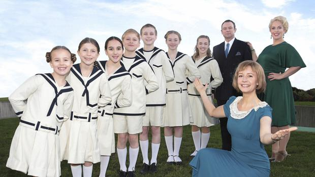 Do-Re-Mi: Andrew Lancel, Clelia Murphy and Emilie Fleming with children from the cast of The Sound of Music. Photo by  Brian McEvoy