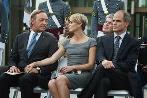 Robin Wright with Kevin Spacey in 'House of Cards' - Netflix most sucessful show.