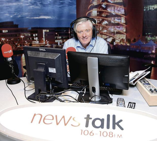 Making waves: Pat on his Newstalk show