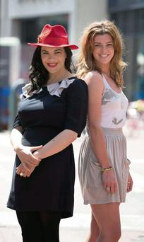 Camille O'Sullivan and Aoibhinn McGinnity at the launch of the Dublin Theatre Festival