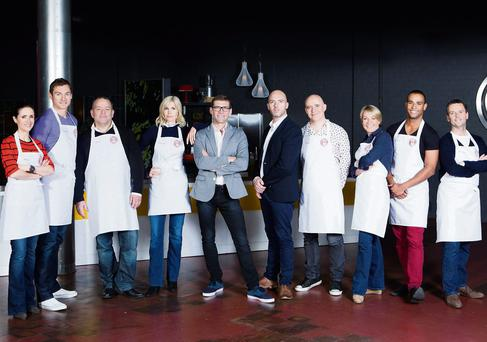 Party of 10: the 'Celebrity Masterchef' contestants with the two judges