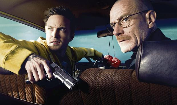 Characters Walter and Jesse. Breaking Bad