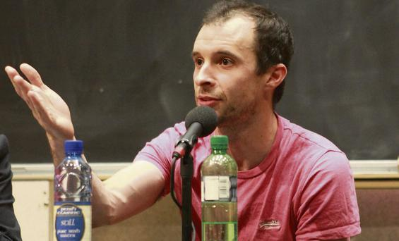 Tom Vaughan-Lawlor at the symposium in Trinity College Dublin