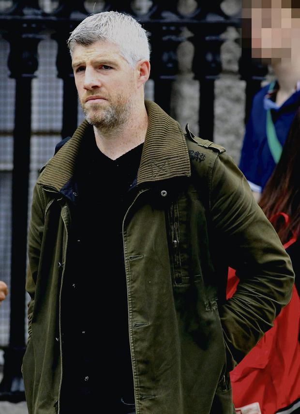 Love/Hate actor and real life Garda Kieran O'Reilly at Trinity College, Dublin City