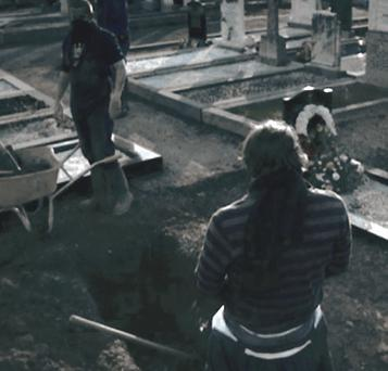 The latest 'Love/Hate' episode shows urination in a graveyard