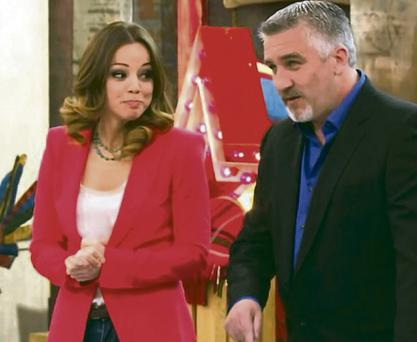 Paul Hollywood with his American co-star Marcela Valladolid
