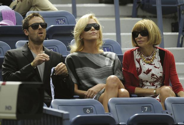Stuart Townsend with Charlize Theron and US 'Vogue' editor Anna Wintour