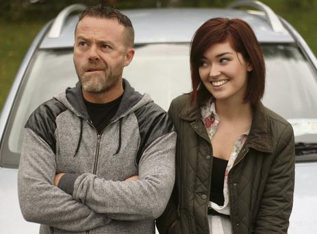 Just not funny: Eric Lalor and Eva-Jane Gaffney as Johnny and Jenny in 'The Commute'