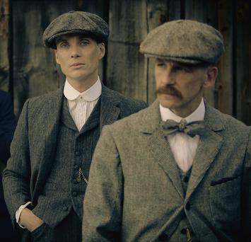 SHARP: Cillian Murphy as Tommy Shelby and Paul Anderson as Arthur Shelby in cult BBC hit 'Peaky Blinders'