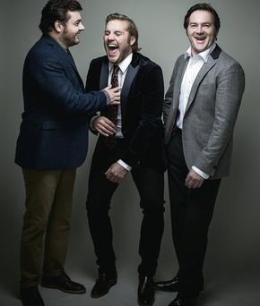 'Love/Hate' actors, left to right, Laurence Kinlan, Peter Coonan and Peter O'Meara.