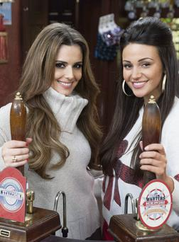 Cheryl Cole, left, and Michelle Keegan, who plays Tina at the Rovers Return in 'Coronation Street'. Rob Evans/PA wire