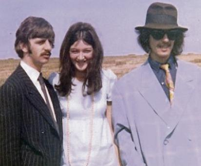 Fifth Beatle: Ringo Starr (left) and George Harrison with Freda Kelly