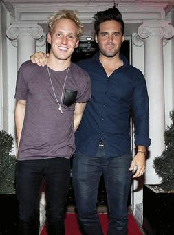 Made in Chelsea stars Jamie Laing and Spencer Matthews pictured at there exclusive VIP Party in Bucks Townhouse.