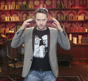 Keith Barry on the set of his new series 'Brain Hacker'
