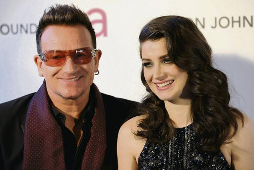 Bono with daughter Eve
