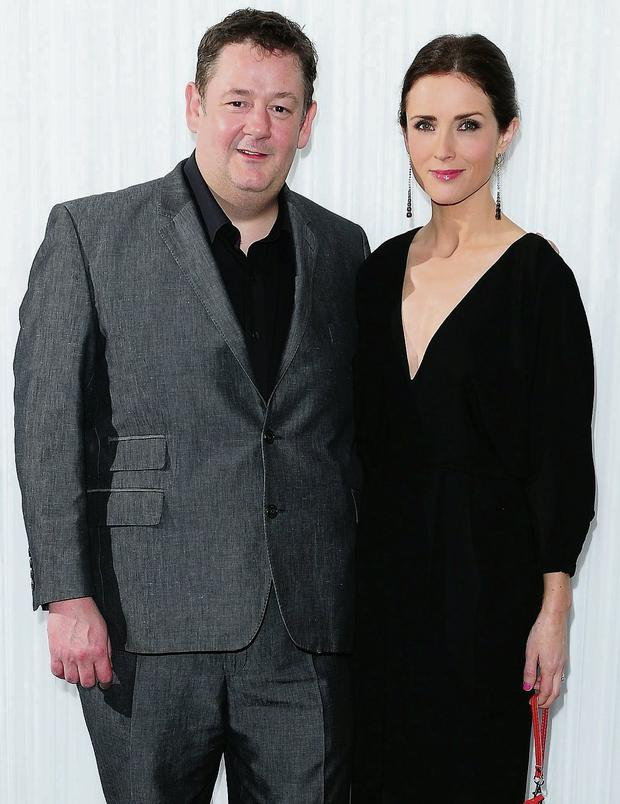 Johnny Vegas and Maia Dunphy attending the Empire Magazine Film Awards