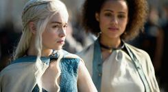Mother of Dragons Daenerys Targaryen and her aide