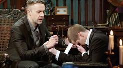 THE MAGIC TOUCH: Keith Barry on 'Brain Hacker', which will be seen in 76 countries.
