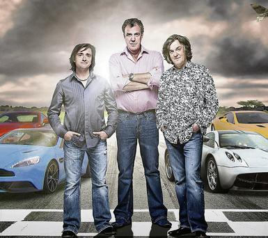 Clarkson, Hammond and May entertain from the driving seat as hosts of the BBC's Top Gear