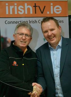 John Griffin with Pierce O'Reilly of Irish TV