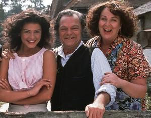 As Pop Larkin in 'The Darling Buds of May' with Catherine Zeta Jones and Pam Ferris