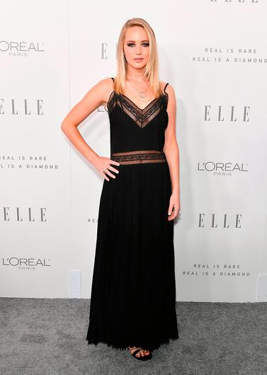 Jennifer Lawrence at the Women in Hollywood event at the Four Seasons Hotel in Los Angeles