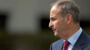 Onwards: Micheál Martin led the process of building up the party. Photo: Brian Lawless
