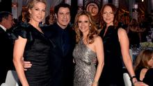 (L-R) Jenna Elfman, John Travolta, Kelly Preston and Laura Prepon attend the Church of Scientology Celebrity Centre 44th Anniversary Gala on August 24, 2013 in Los Angeles, California.  (Photo by Kevin Winter/Getty Images for CoS)