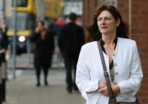 Mary White pictured leaving the Four Courts after the opening day of a High Court action.Pic: Courts Collins