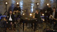 Kodaline performing at the restored chapel at Swords Castle. Photo: Fintan Clarke