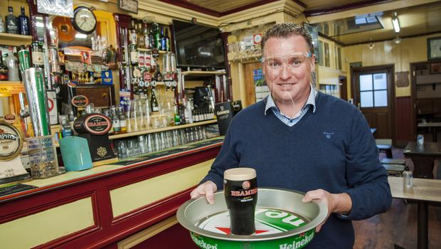Michael O'Donovan, Cork City Chairperson of Vintners Federation of Ireland, pictured at the reopening of his pub The Castle Inn. Photo: Daragh Mc Sweeney/Provision