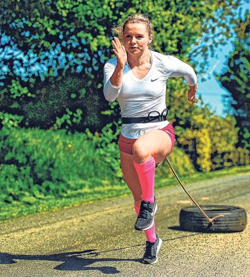 Irish athlete Molly Scott has been improvising as she continues to train on the quiet country roads near her home in Carlow. Photo: Harry Murphy/Sportsfile