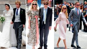 (L to R) Prince Christian of Hanover and Alessandra de Osma, Kate Moss and Count Nikolai von Bismarch, Beatrice Borromeo and Pierre Cassiraghi