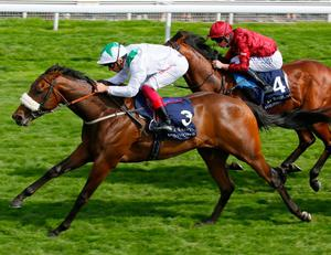 Emaraaty Ana, in action with Frankie Dettori in 2018, is tipped to win at Chester today